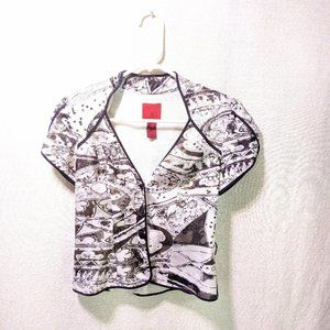 JS Collections Black & White Shirt
